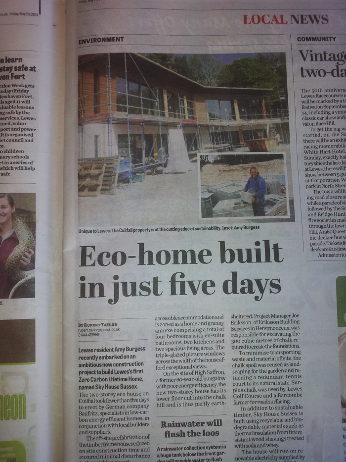 Sussex Express news coverage May 2014