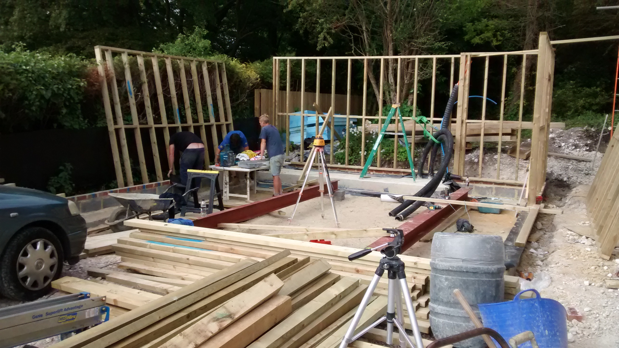 Attractive Joeu0027s Team Building Timber Framed Garage With Steel Beams